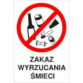 zakaz Z03 zakaz wyrzucania śmieci