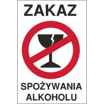 zakaz spożywania alkoholu ZA01 pęknięty kieliszek