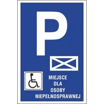znak parking P17 miejsce dla osoby niepełnosprawnej