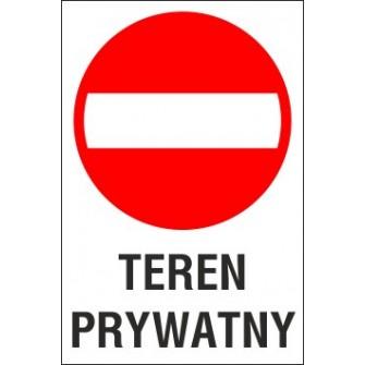 zakaz wjazdu ZW03 teren prywatny
