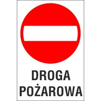 zakaz wjazdu ZW05 DROGA POZAROWA