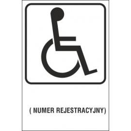 miejsce dla inwalidy MI01x numer rejestracyjny T-29