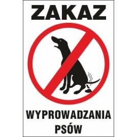 Tabliczka na słupku Z02s zakaz wyprowadzania psów
