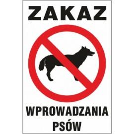 Tabliczka na słupku Z01s zakaz wprowadzania psów