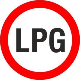 Naklejka znak zakazu B-1a  zakaz wjazdu pojazdów napędzanych gazem