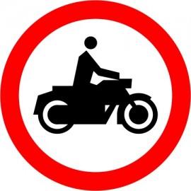Naklejka znak zakazu B-4 Zakaz wjazdu motocykli