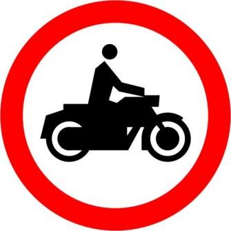 Naklejka B-4 Zakaz wjazdu motocykli
