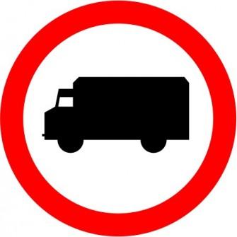 Naklejka B-5 Zakaz wjazdu samochodów ciężarowych