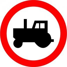 Naklejka znak zakazu B-6 zakaz wjazdu ciągników rolniczych