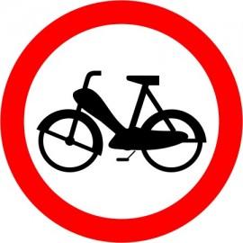 Naklejka znak zakazu B-10 zakaz wjazdu motorowerów