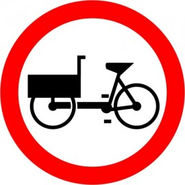 Naklejka znak zakazu B-11 Zakaz wjazdu rowerów wielośladowych