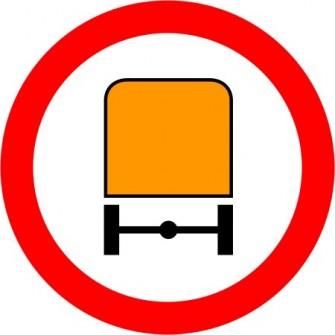 Naklejka B-13a zakaz wjazdu pojazdów z materiałami niebezpiecznymi