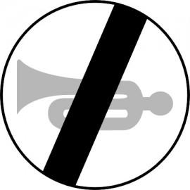 Naklejka B-30 Koniec zakazu używania sygnałów dźwiękowych