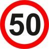 Naklejka znak zakazu  B-33-50 ograniczenie prędkości (tu 50 km)