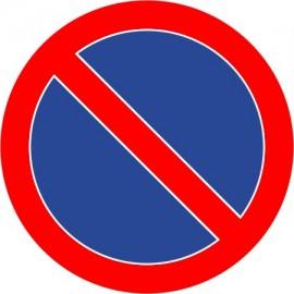 Naklejka znak zakazu B-35 zakaz postoju