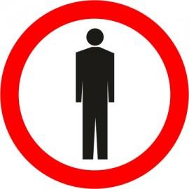 Naklejka znak zakazu B-41 zakaz ruchu pieszych