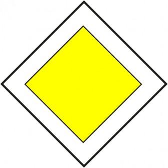 Naklejka znak informacyjny D-1 droga z pierwszeństwem