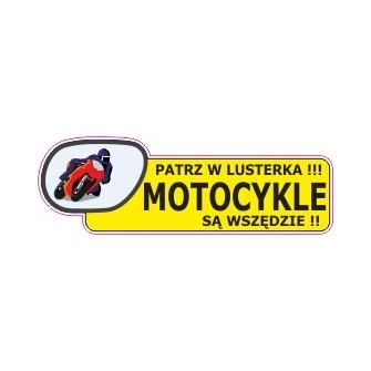 Naklejka patrz w lusterka motocykle są wszędzie G9
