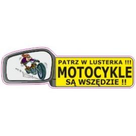 Naklejka patrz w lusterka motocykle są wszędzie G12
