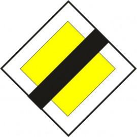 Naklejka znak informacyjny D-2 koniec drogi z pierwszeństwem