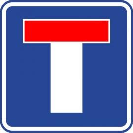 Naklejka znak informacyjny D-4a  droga bez przejazdu
