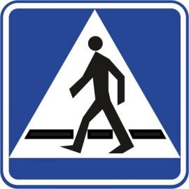 Naklejka znak informacyjny D-6 przejście dla pieszych