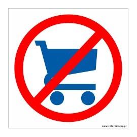 naklejka zakaz nie wchodzić z wózkami 001