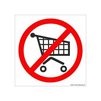 naklejka zakaz nie wchodzić z wózkami 002