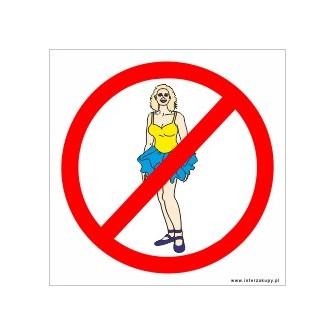 naklejki - nie wchodzić w strojach plażowych-001