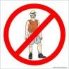naklejka- nie wchodzić w strojach plażowych-001