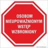 naklejki - osobom nieupoważnionym wstęp wzbroniony 002