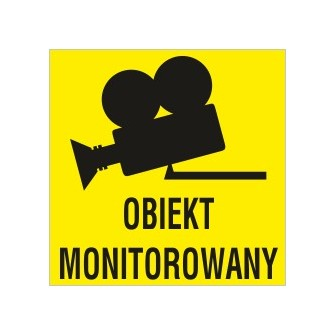 naklejka  obiekt monitorowany 1