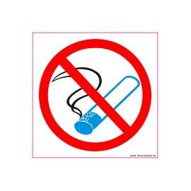 naklejka INZP6 - zakaz palenia papierosów
