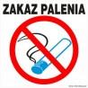 naklejka zakaz palenia 003