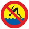 naklejka zakaz skoków do wody
