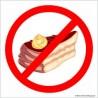 naklejka zakaz wchodzenia z jedzeniem -001