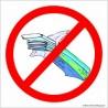 naklejka zakaz wchodzenia z jedzeniem -002