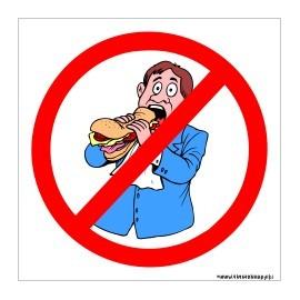 naklejka INL07 - zakaz wchodzenia z jedzeniem