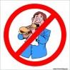 naklejka zakaz wchodzenia z jedzeniem -004