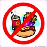 naklejka zakaz wchodzenia z jedzeniem -005