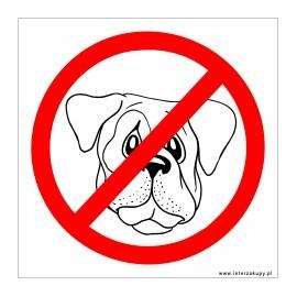 naklejka zakaz wprowadzania psów