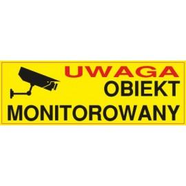 Naklejka uwaga obiekt monitorowany O1