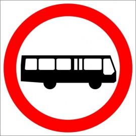 Znak drogowy B-3a Zakaz wjazdu autobusów