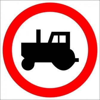 B-6 zakaz wjazdu ciągników rolniczych