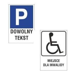 """Naklejki """"Parking""""  z tekstem"""