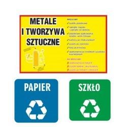 Naklejki segregacja śmieci - odpadów