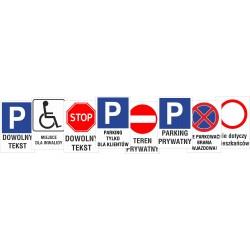Znaki drogowe, tablice z dodatkowym tekstem