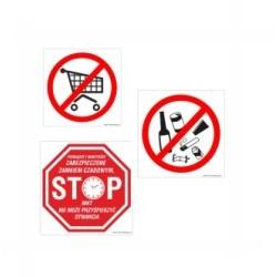 Naklejki Zakazujące, nakazujące